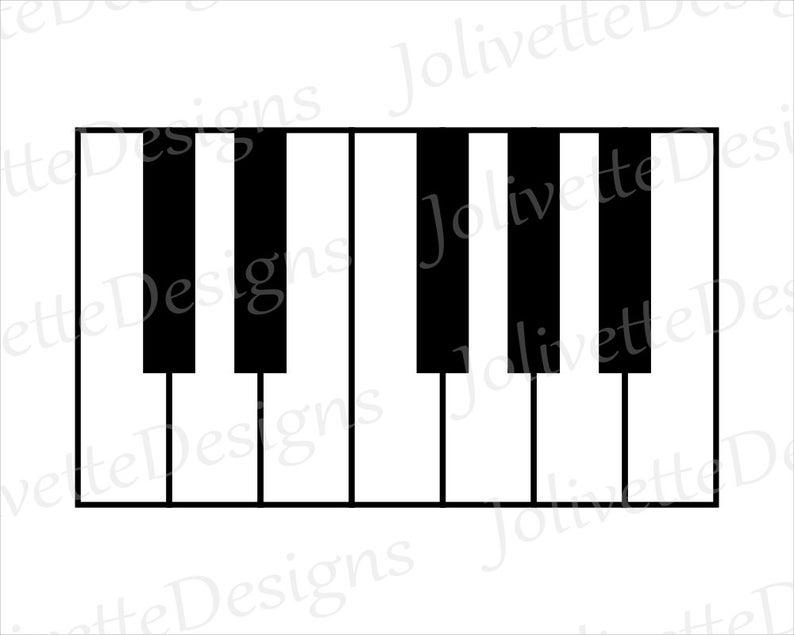 Keyboard clipart item. Piano keys notes music