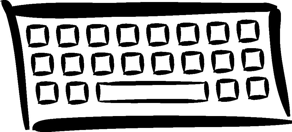 Onlinelabels clip minimalist. Keyboard clipart pixel art