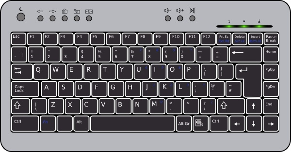 Keyboard clipart qwerty keyboard. Compact clip art free