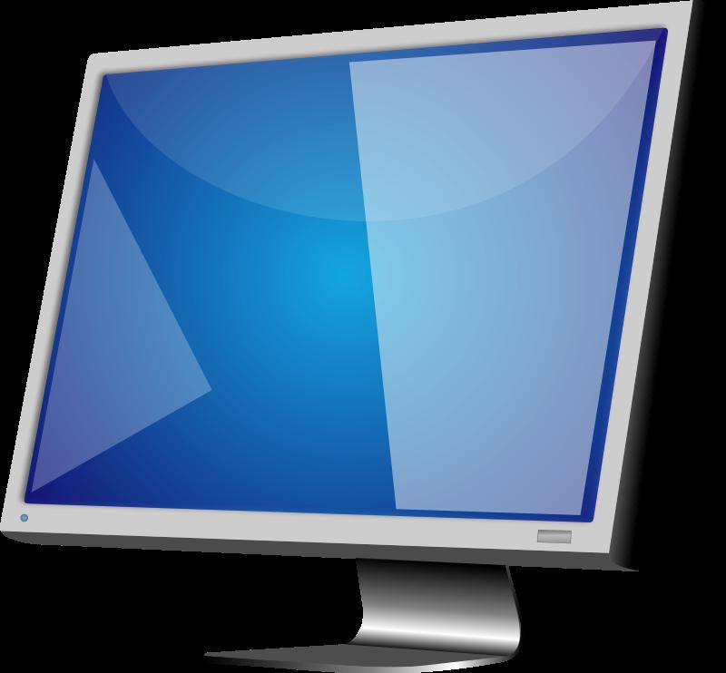 Computer monitor and panda. Keyboard clipart royalty free