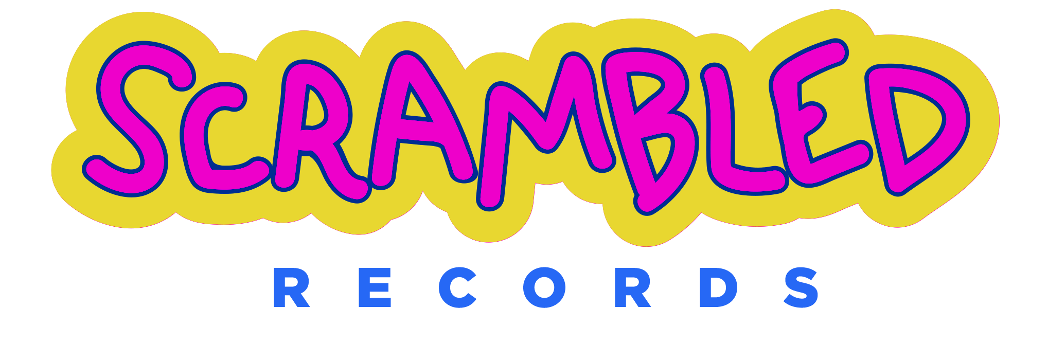 Home scrambled records logo. Yelling clipart express yourself