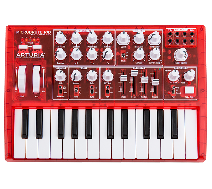 Piano clipart synthesizer. Arturia overview microbrute red