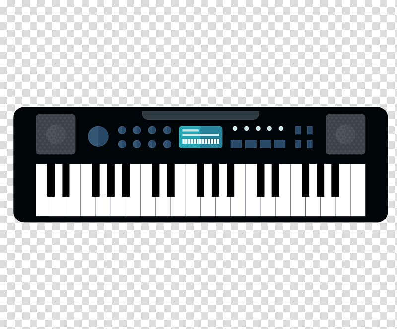 Piano clipart synthesizer. Electric musical keyboard digital