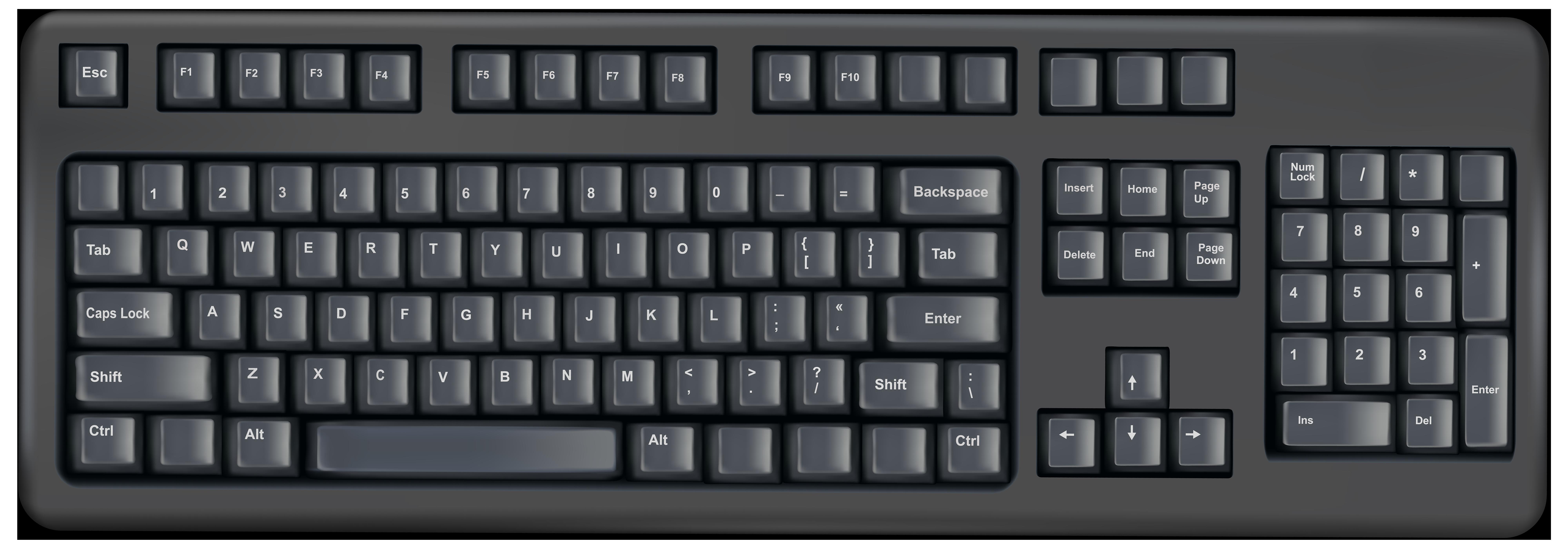 Keyboard clipart transparent background, Keyboard ...