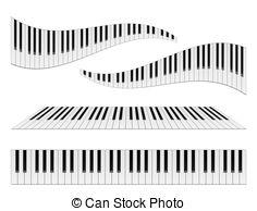 Piano station . Keyboard clipart wavy