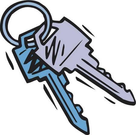 Cilpart gorgeous design new. Keys clipart