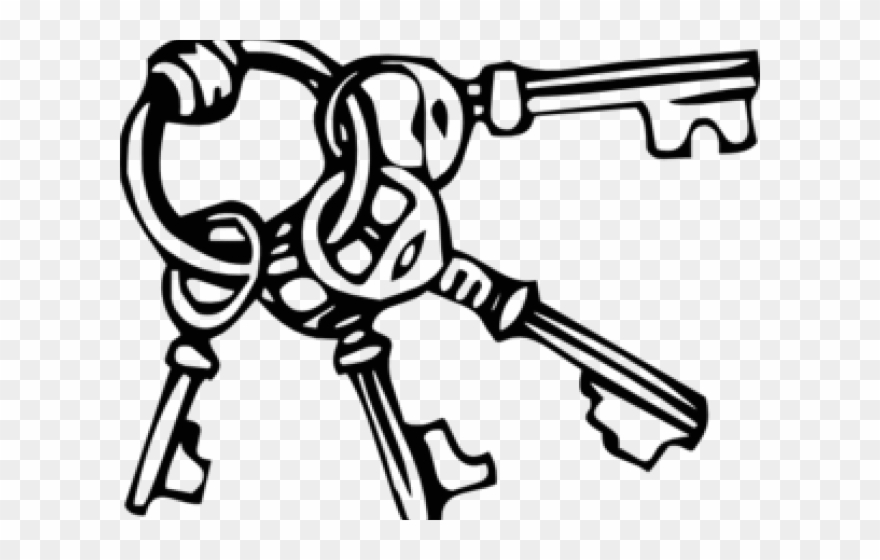 Key dont get discouraged. Keys clipart black and white