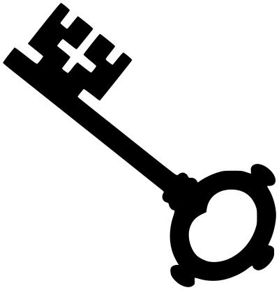 Skeleton key tools locks. Keys clipart cross