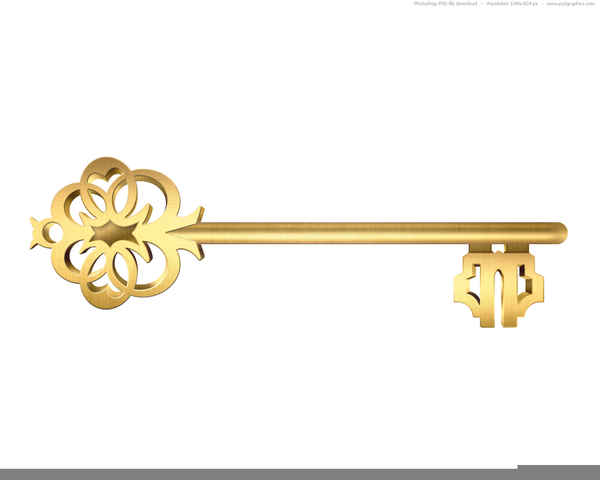 Keys clipart gold key. Antique free images at