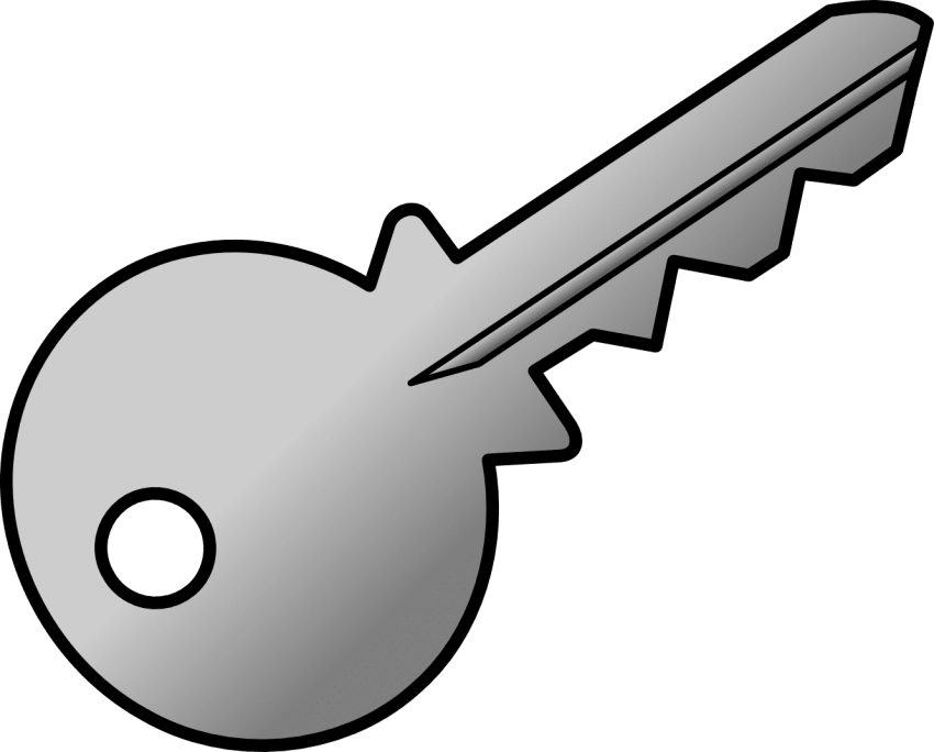 S png free images. Keys clipart metal key