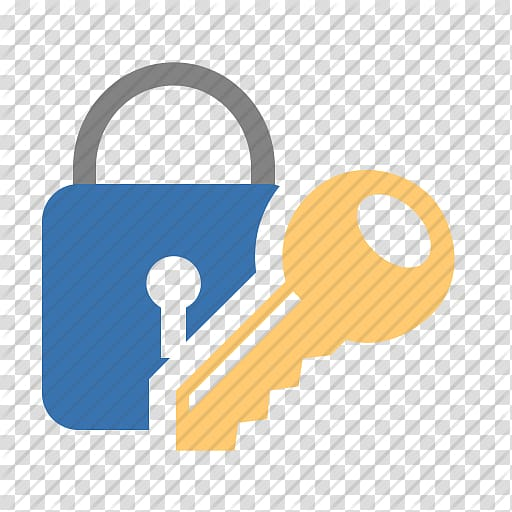Brown key with padlock. Keys clipart password