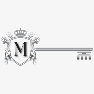 Key real estate logo. Keys clipart property management