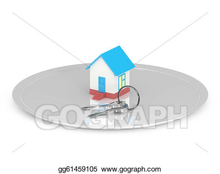 Keys clipart toy. The house with on