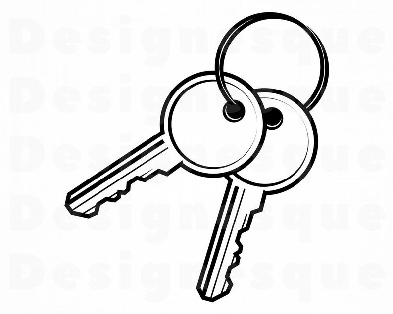 Svg ring files for. Keys clipart two key