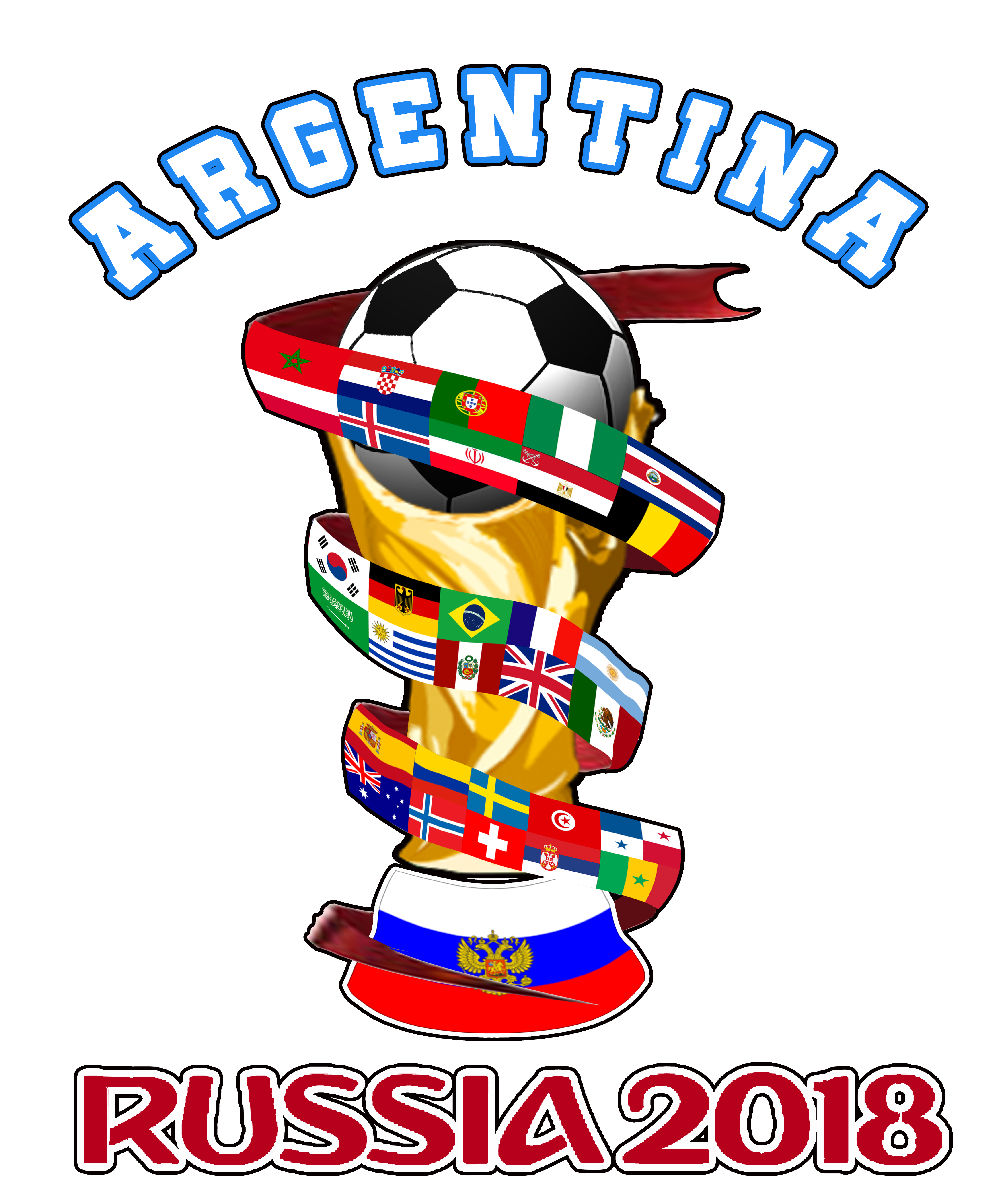 Kickball clipart gift. Argentina world cup russia
