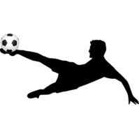 Player kick ball panda. Kickball clipart soccer kicker