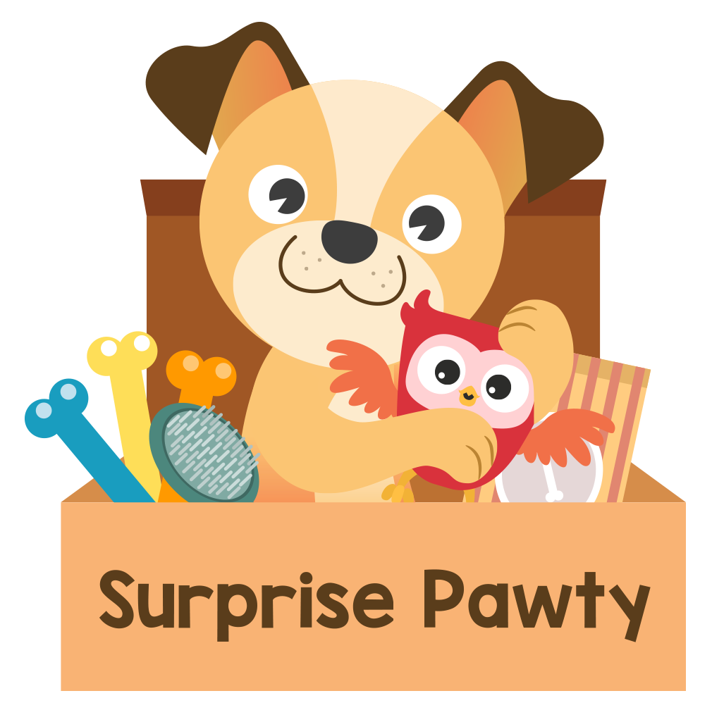 Surprise clipart surprise box. Pawty a personalized monthly