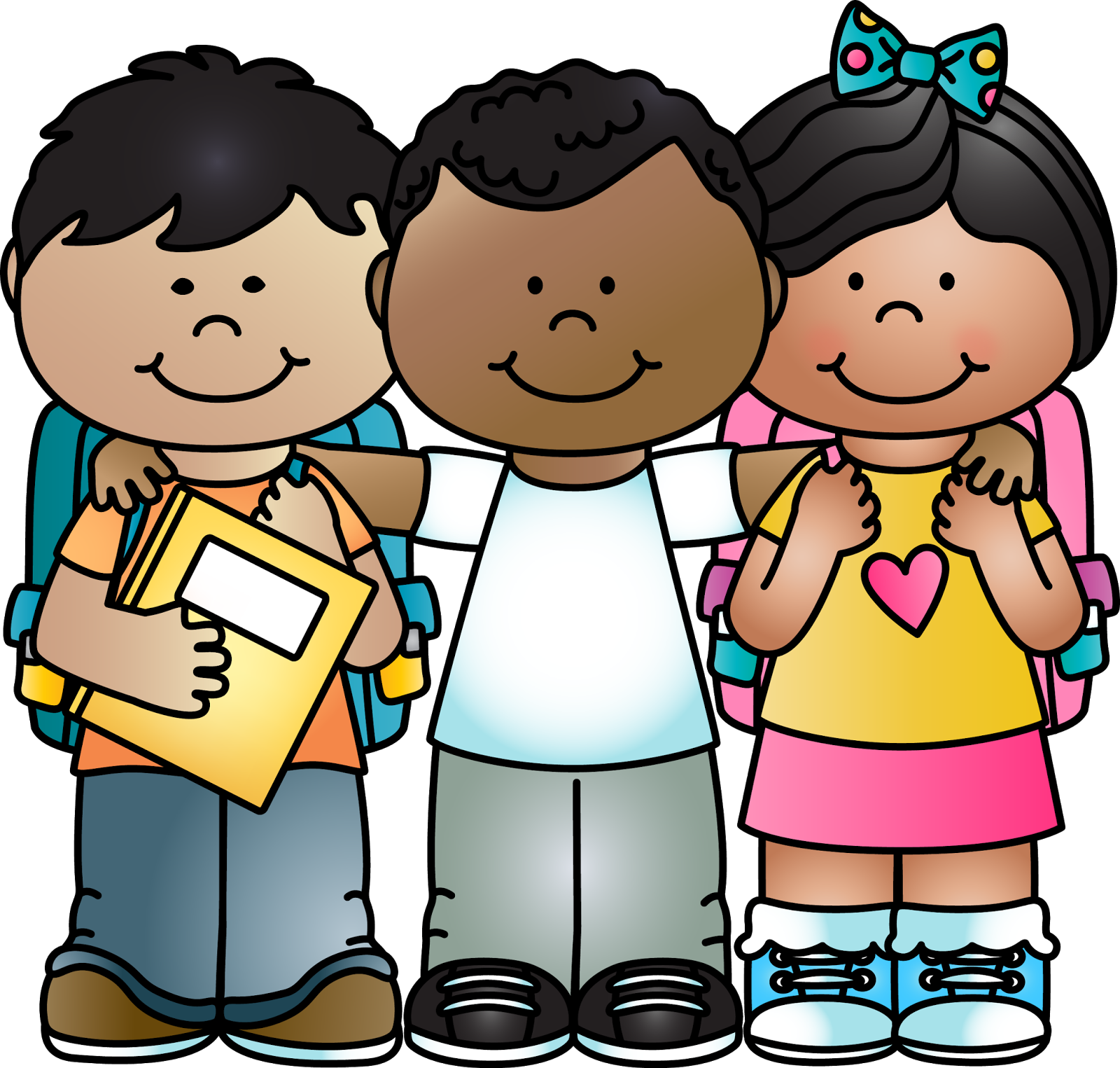 Kid clipart back to school.  collection of cute