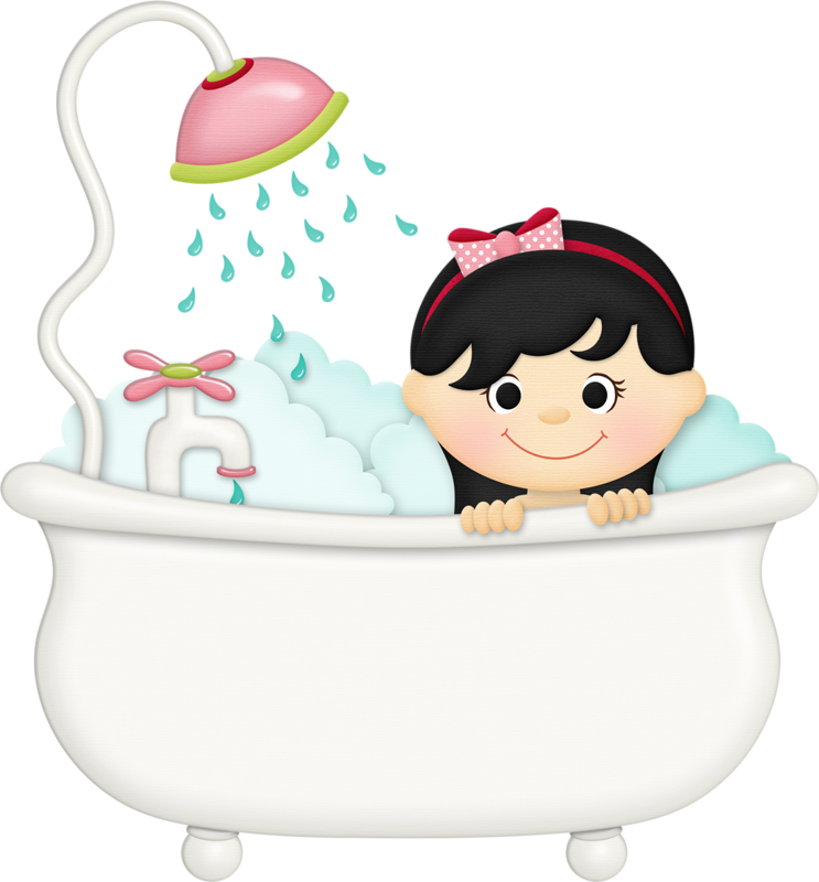 Kid clipart bathroom. Jss squeakyclean girl tub