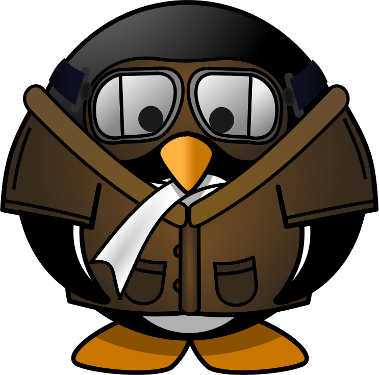 Image for penguin animal. Kid clipart pilot