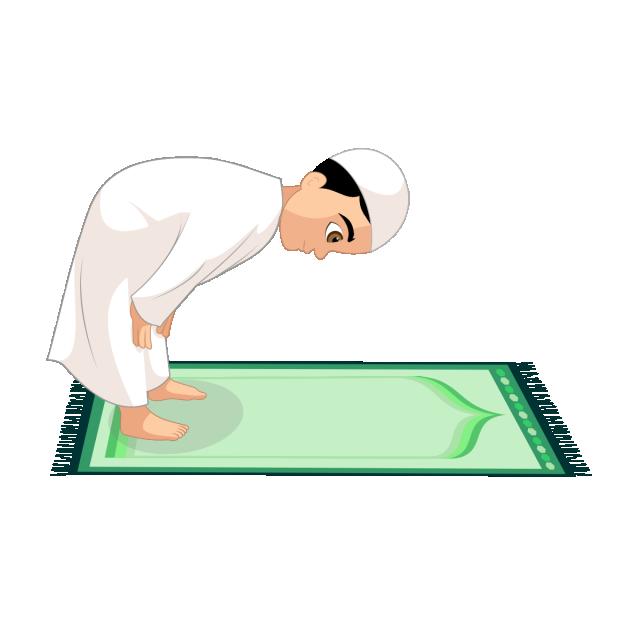 Muslim salah steps. Lunch clipart prayer
