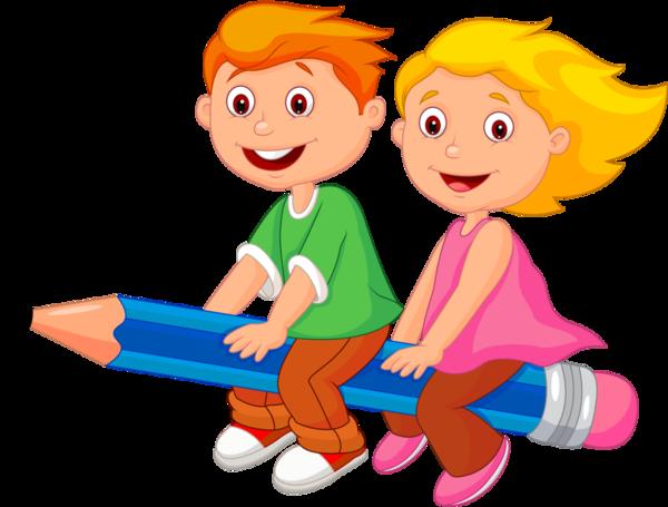Kids clipart education. Cute school children