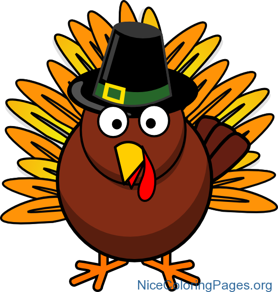 Kids clipart thanksgiving. Turkey nice coloring pages