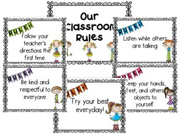 Simple rules with cute. Kind clipart class