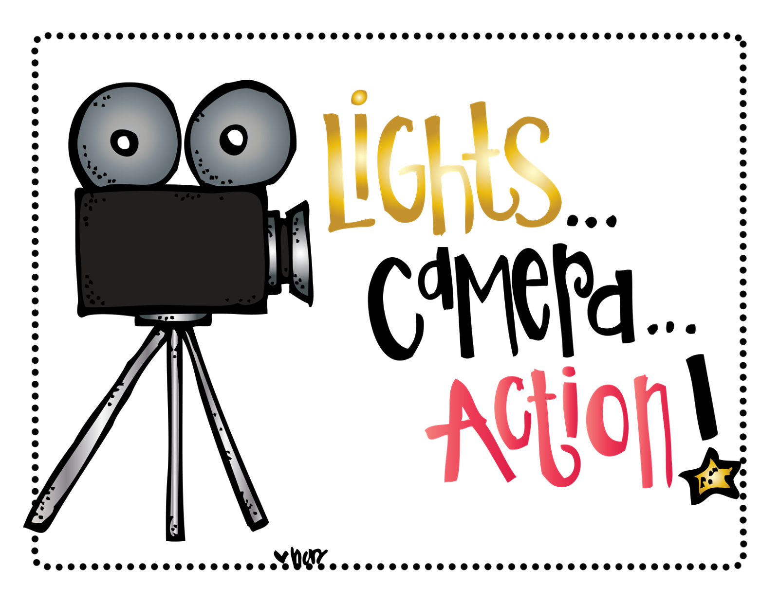 Interest based enrichment groups. Lighting clipart lights camera action