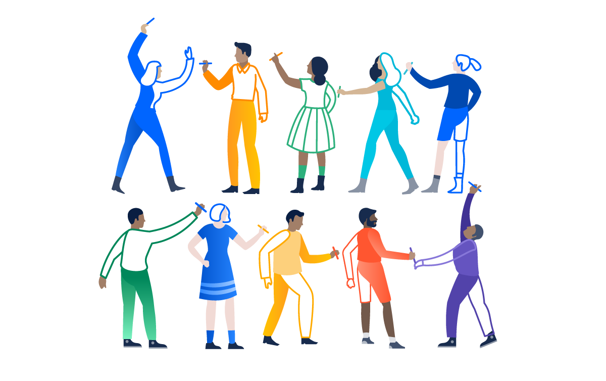 Kind clipart group 10 person. Illustration atlassian design artboard