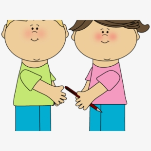 Playing kids sharing to. Kind clipart kind child