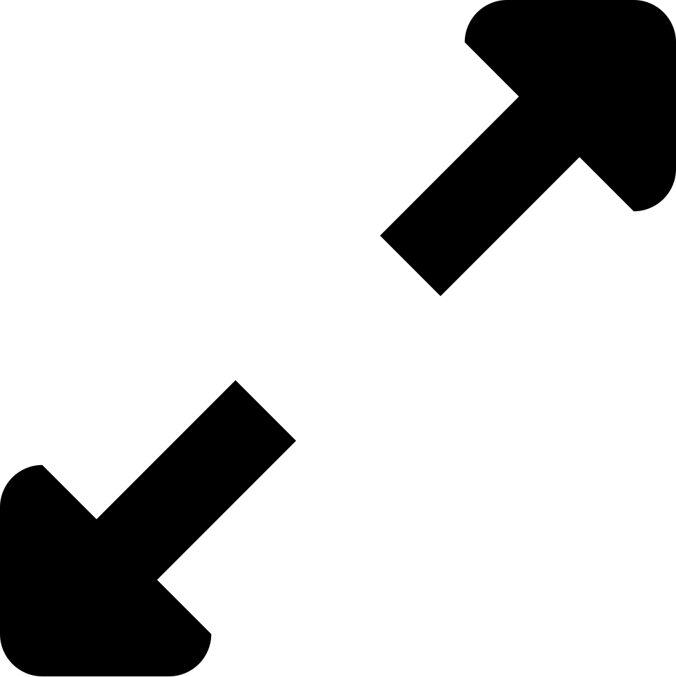 Expand two arrows interface. Kind clipart opposite