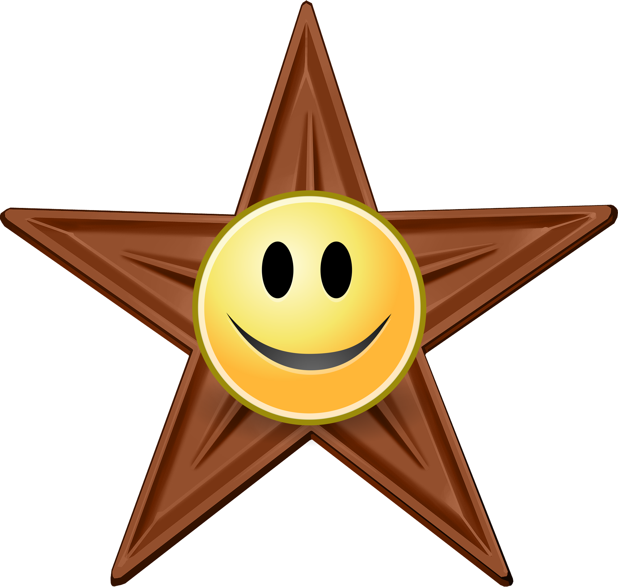 Kindness clipart smiling face. File barnstar hires png