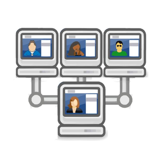 Website clipart network computer. Social clip art at