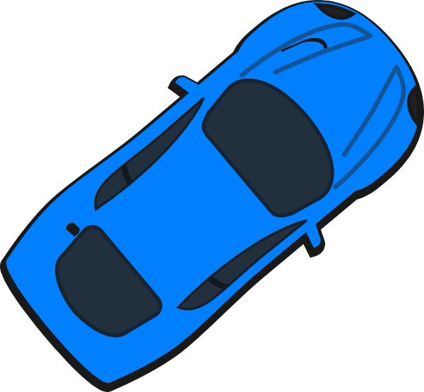 Kind clipart top view. Blue car clip art