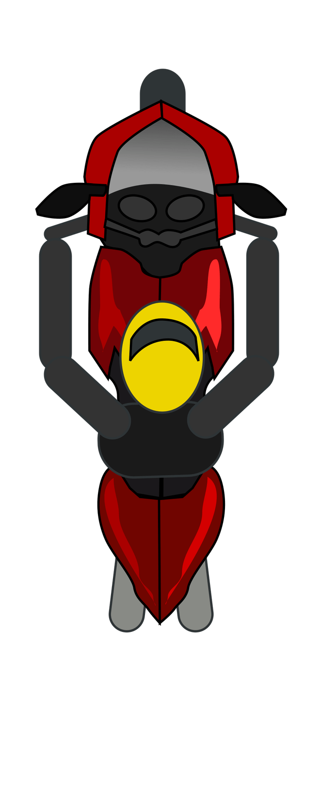 Motorcycle Clipart Top View