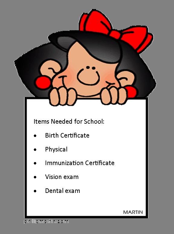 Student enrollment information hardin. Kindergarten clipart certificate