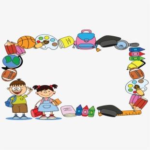 Cartoon school supplies . Kindergarten clipart certificate