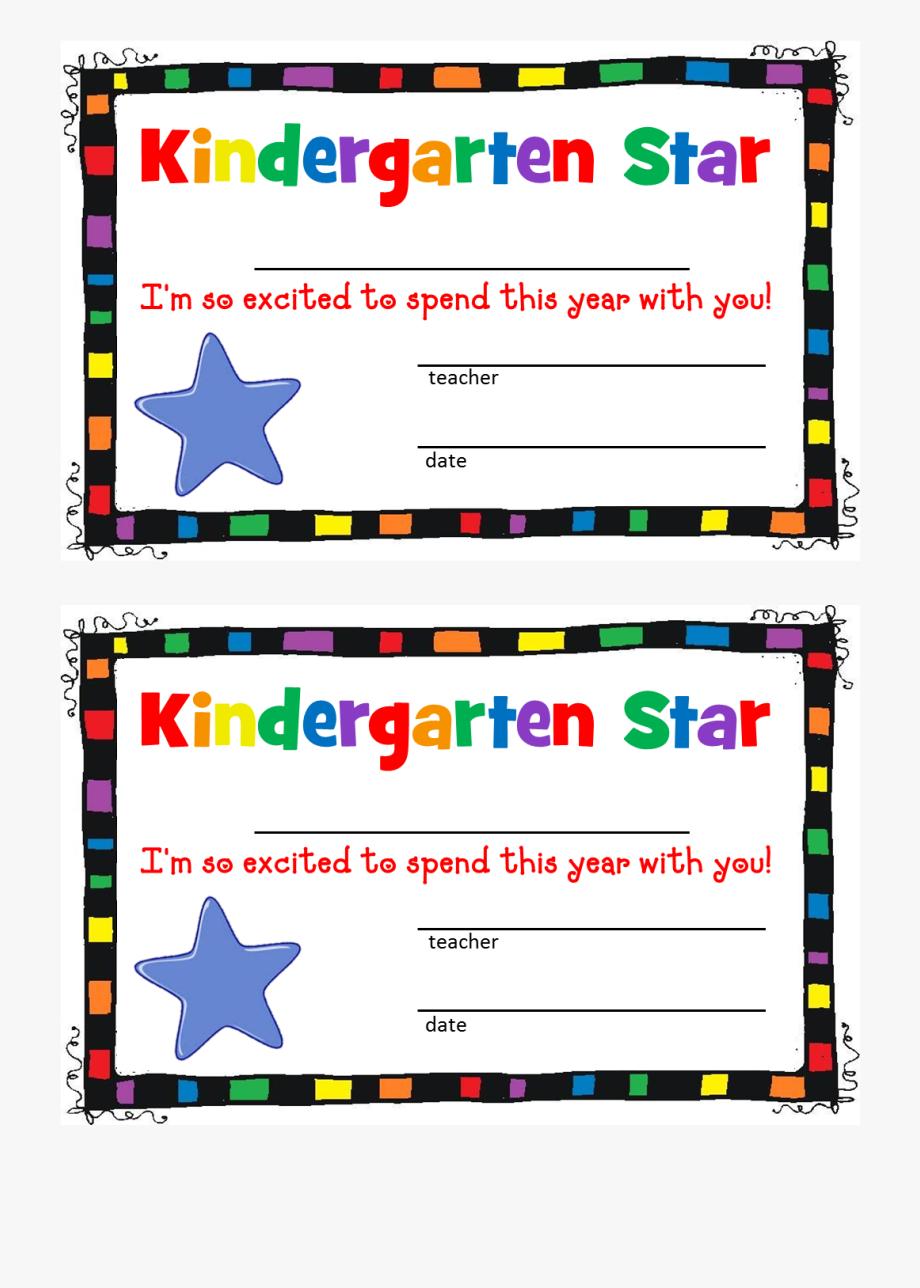 Free printable preschool borders. Kindergarten clipart certificate