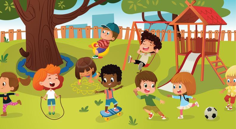School kids games playground. Kindergarten clipart kindergarten child