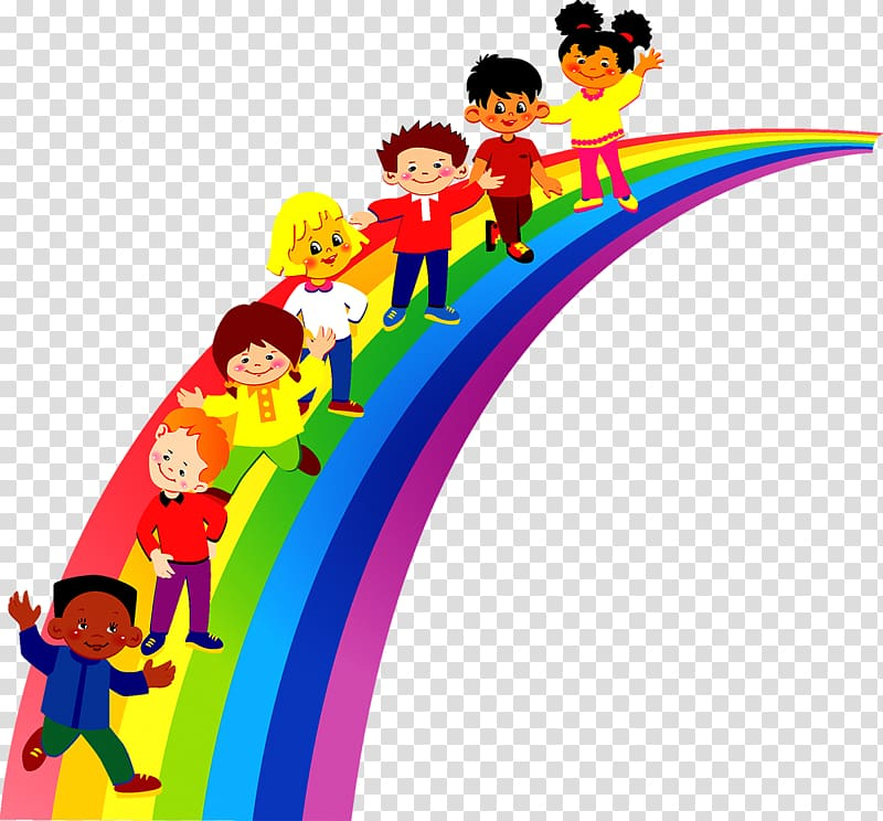 Kindergarten clipart kindergarten child. Rainbow illustration pre school