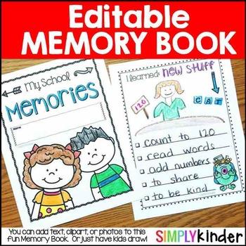 Preschool clipart memories. Kindergarten memory book first