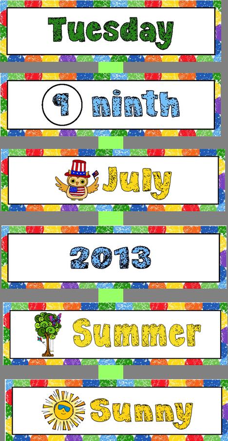 Calendar kit materials preschool. Kindergarten clipart morning meeting