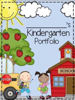 Kindergarten and memory book. Preschool clipart portfolio