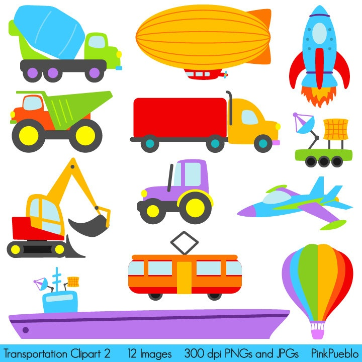 Party clip art library. Transportation clipart printable