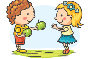 Eating station . Kindness clipart 2 kid