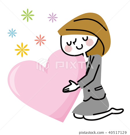 Feeling business woman stock. Kindness clipart caring person
