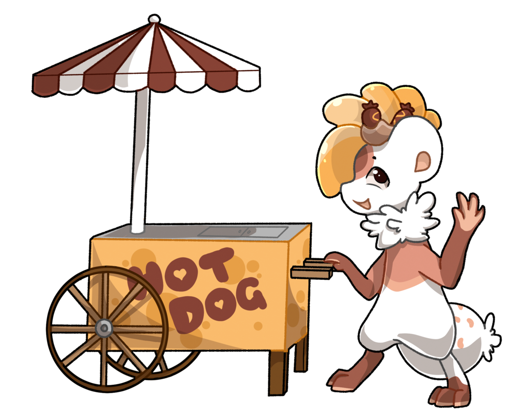 Hot dog cart by. Kindness clipart food donation