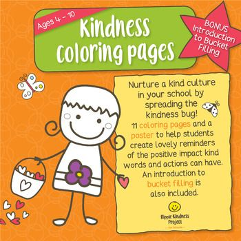 Kindness clipart health week. Coloring page activities for