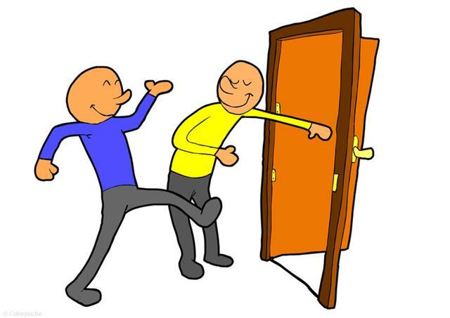 Kindness clipart holding door. Open demarcotopia